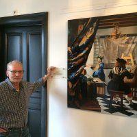 Wim Meijer schildert Vermeer