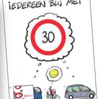 Vrolijke snelheidsborden langs Noordeindseweg