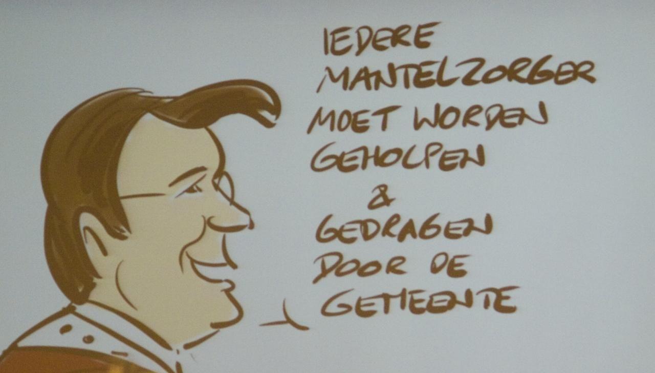 Slotconclusie van wethouder Minderhoud, hier treffend geportretteerd.