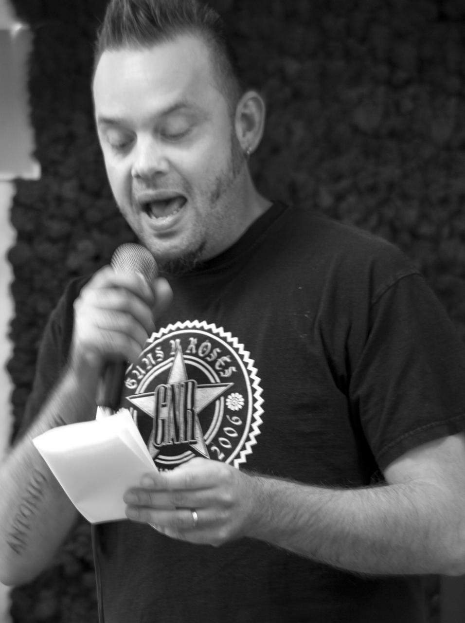 Stadspoëet Mark Boninsegma vertelde mooie verhalen