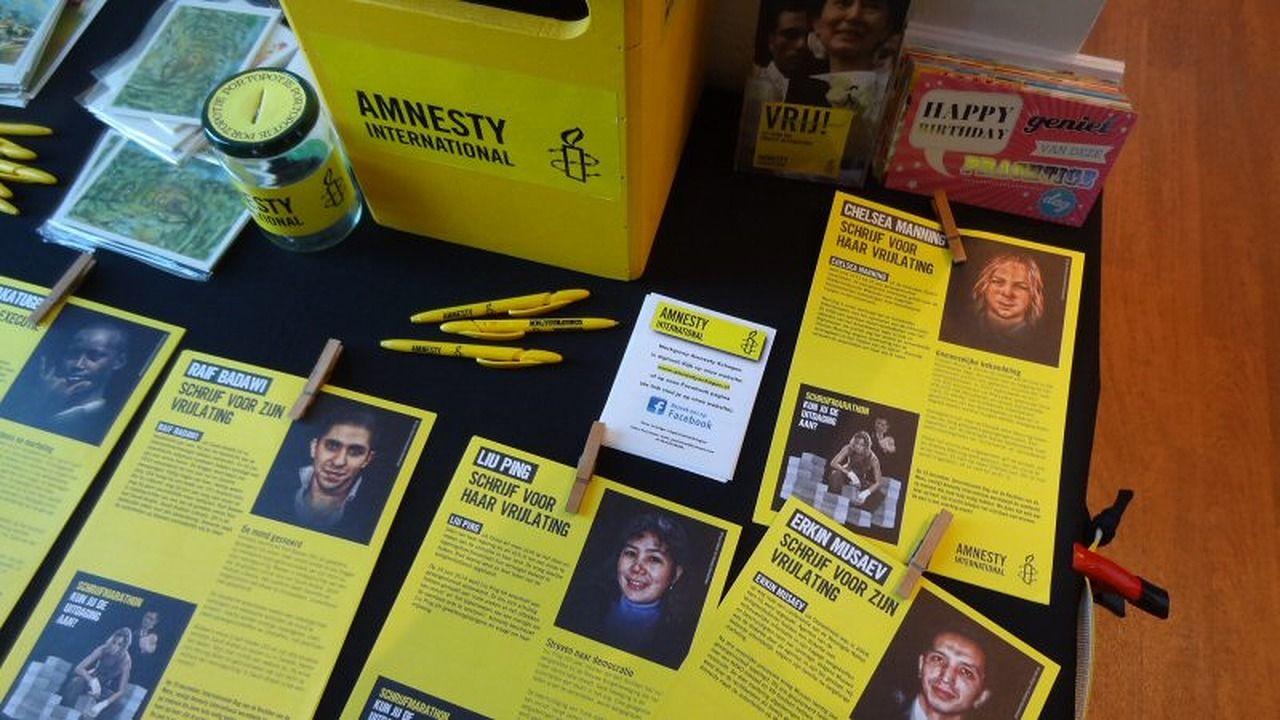 Schrijfmarathon van Amnesty in Nové