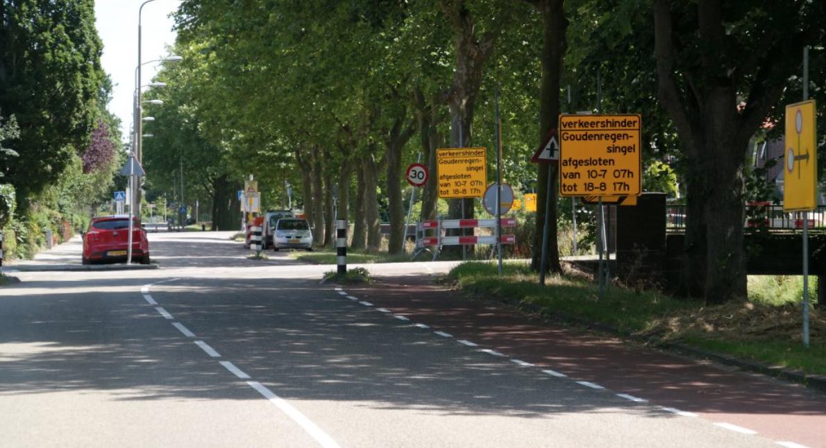 Goudenregensingel Pijnacker afgesloten tot 18 augustus