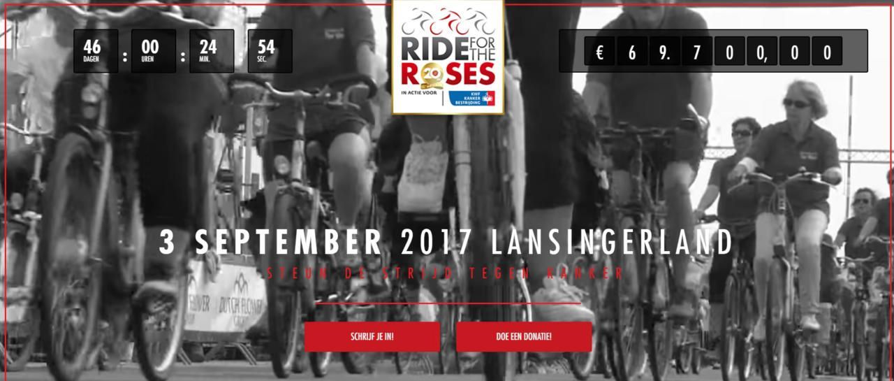 Vrijwilligers voor Ride for the Roses 2017